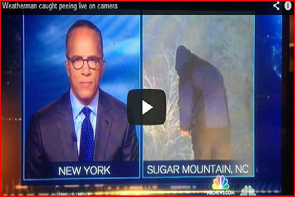 weatherman caught taking a whiz during live news broadcast
