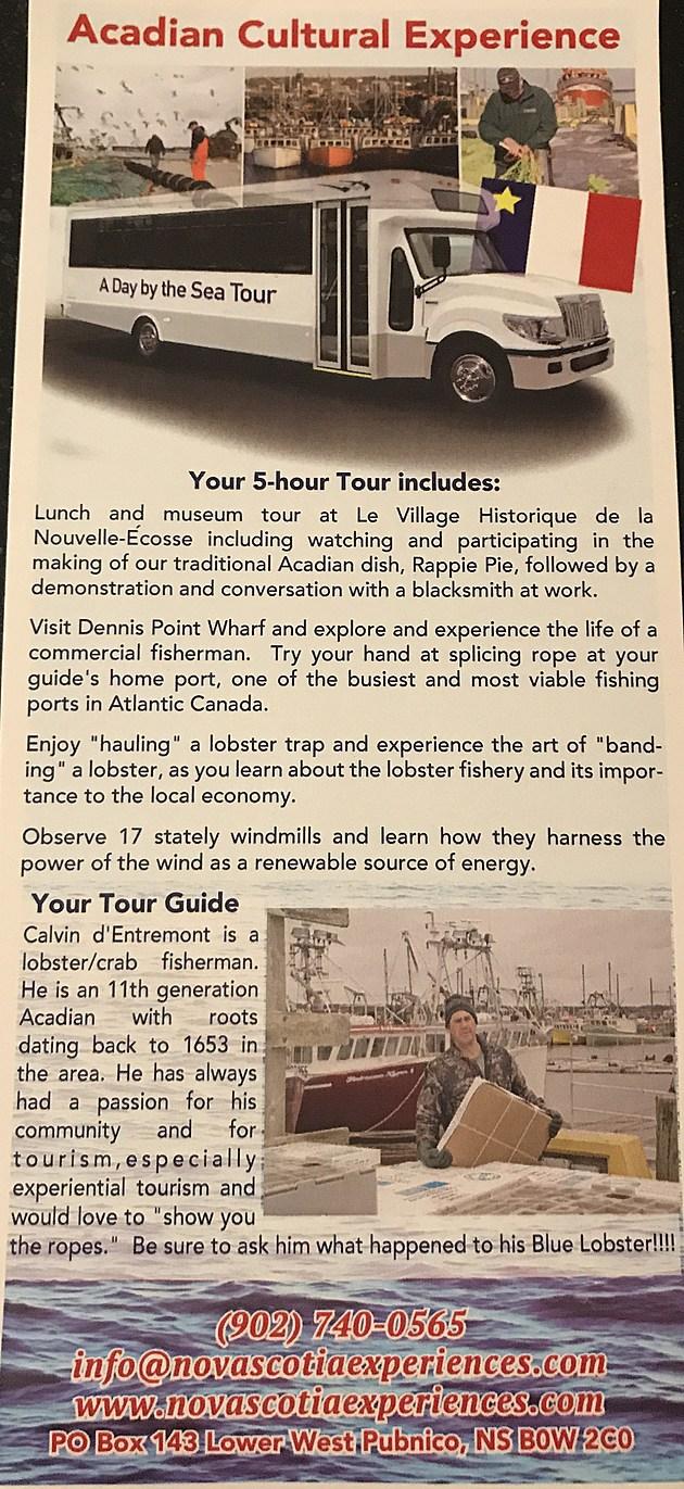 (Calvin d'Entremont - Tour Guide)